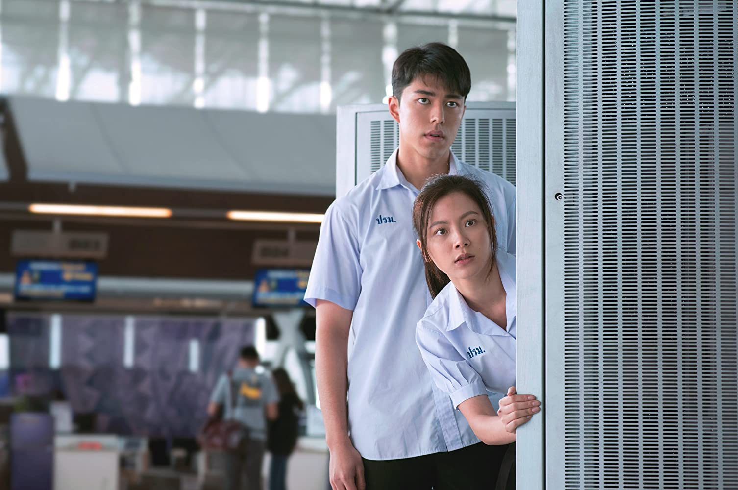 Naphat 'Nine' Siangsomboon and Pimchanok 'Baifern' Luevisadpaibul in Friend Zone (2019)