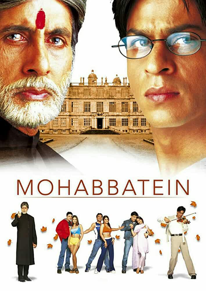 Mohabbatein (2000) Hindi 720p HEVC BluRay x265 ESubs [1GB] Full Bollywood Movie