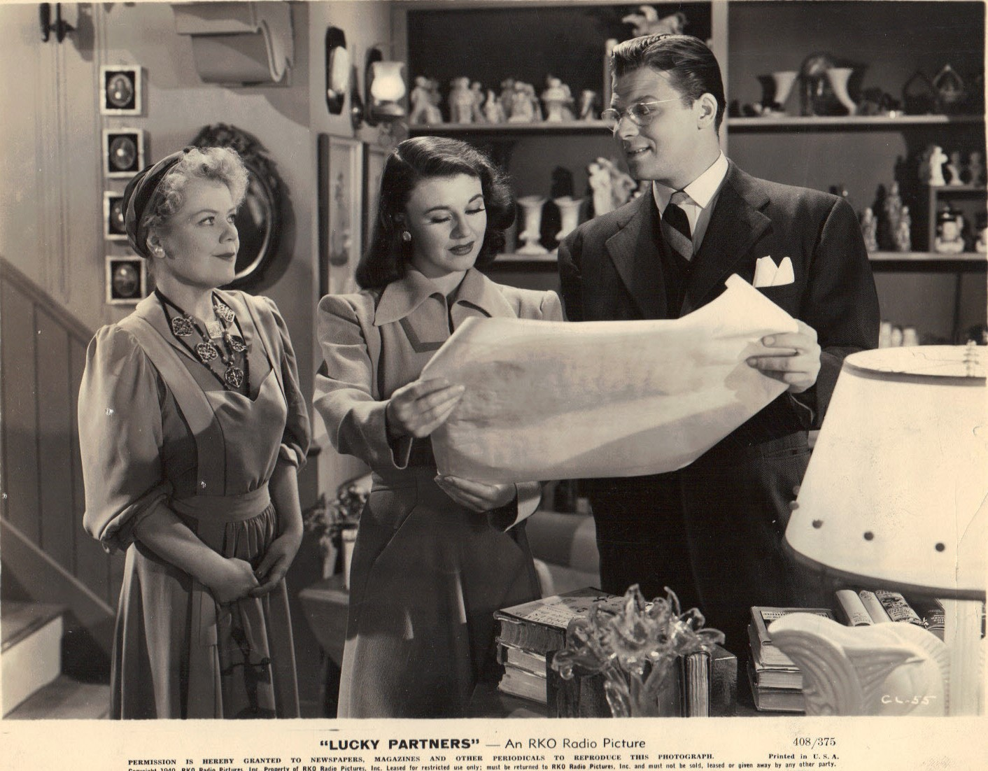 Ginger Rogers, Spring Byington, and Jack Carson in Lucky Partners (1940)