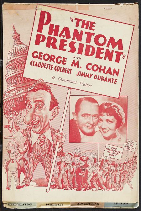 Claudette Colbert, Jimmy Durante, and George M. Cohan in The Phantom President (1932)