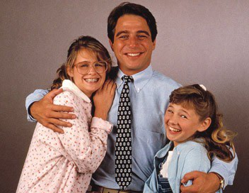 Ami Dolenz, Tony Danza, and Laura Mooney in She's Out of Control (1989)