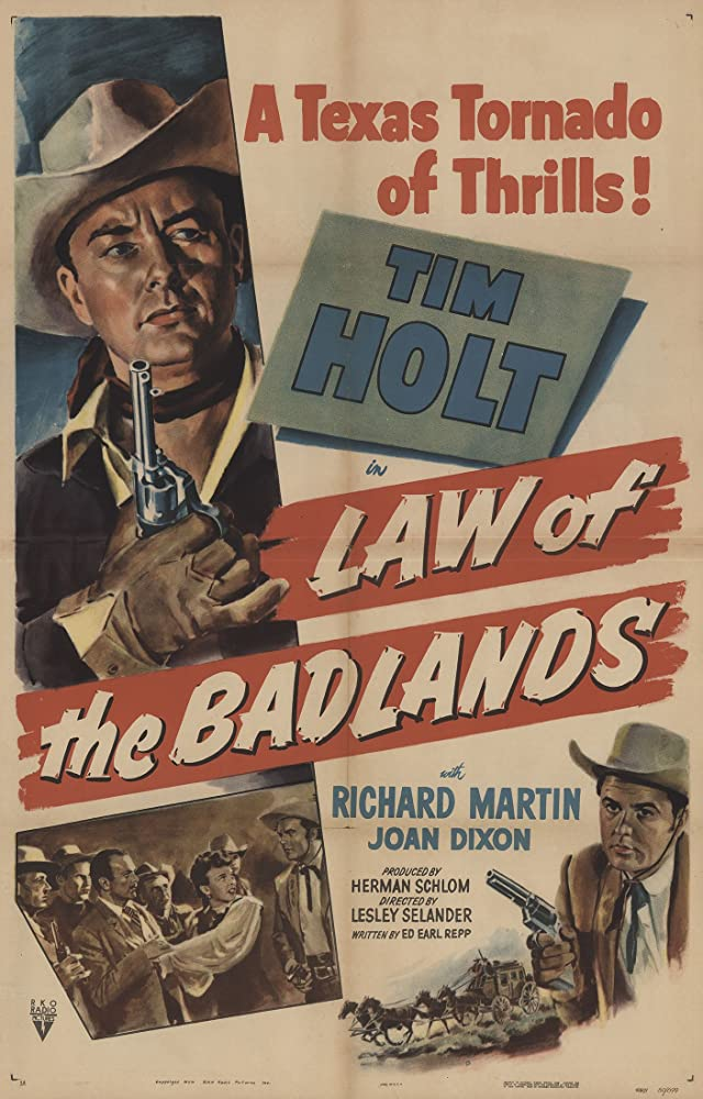 Joan Dixon, Tim Holt, and Richard Martin in Law of the Badlands (1951)