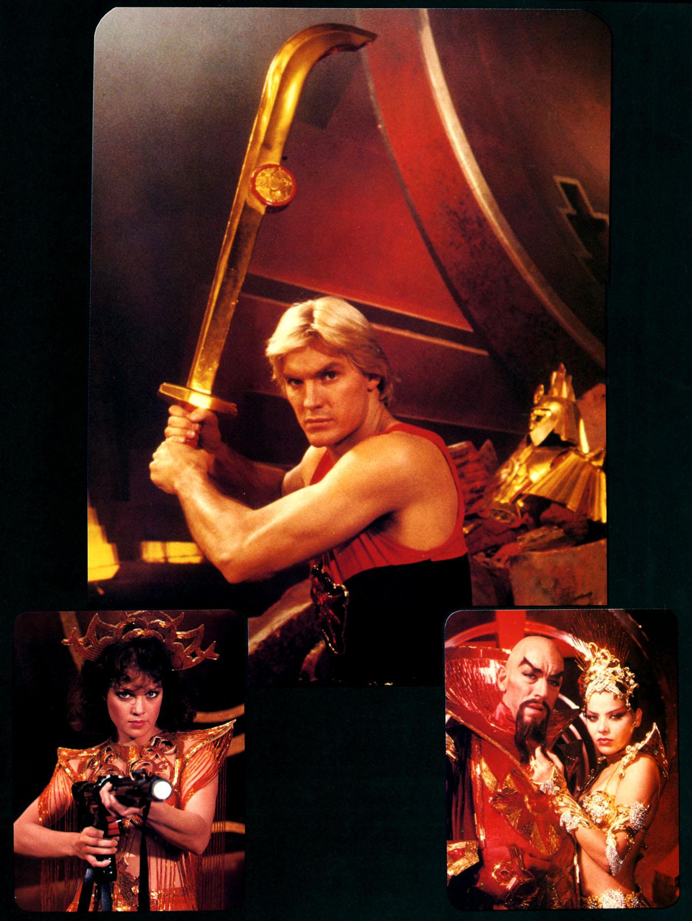 Melody Anderson, Ornella Muti, Max von Sydow, and Sam J. Jones in Flash Gordon (1980)