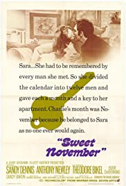 Sweet November (1968) Poster - Movie Forum, Cast, Reviews
