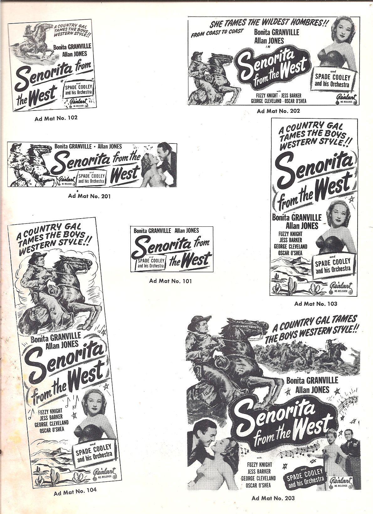 Jess Barker, Bonita Granville, and Allan Jones in Senorita from the West (1945)
