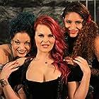 Kat Hebert, Nica Cirilo, and Scarlet Ryan in FrightMare Theater (2015)