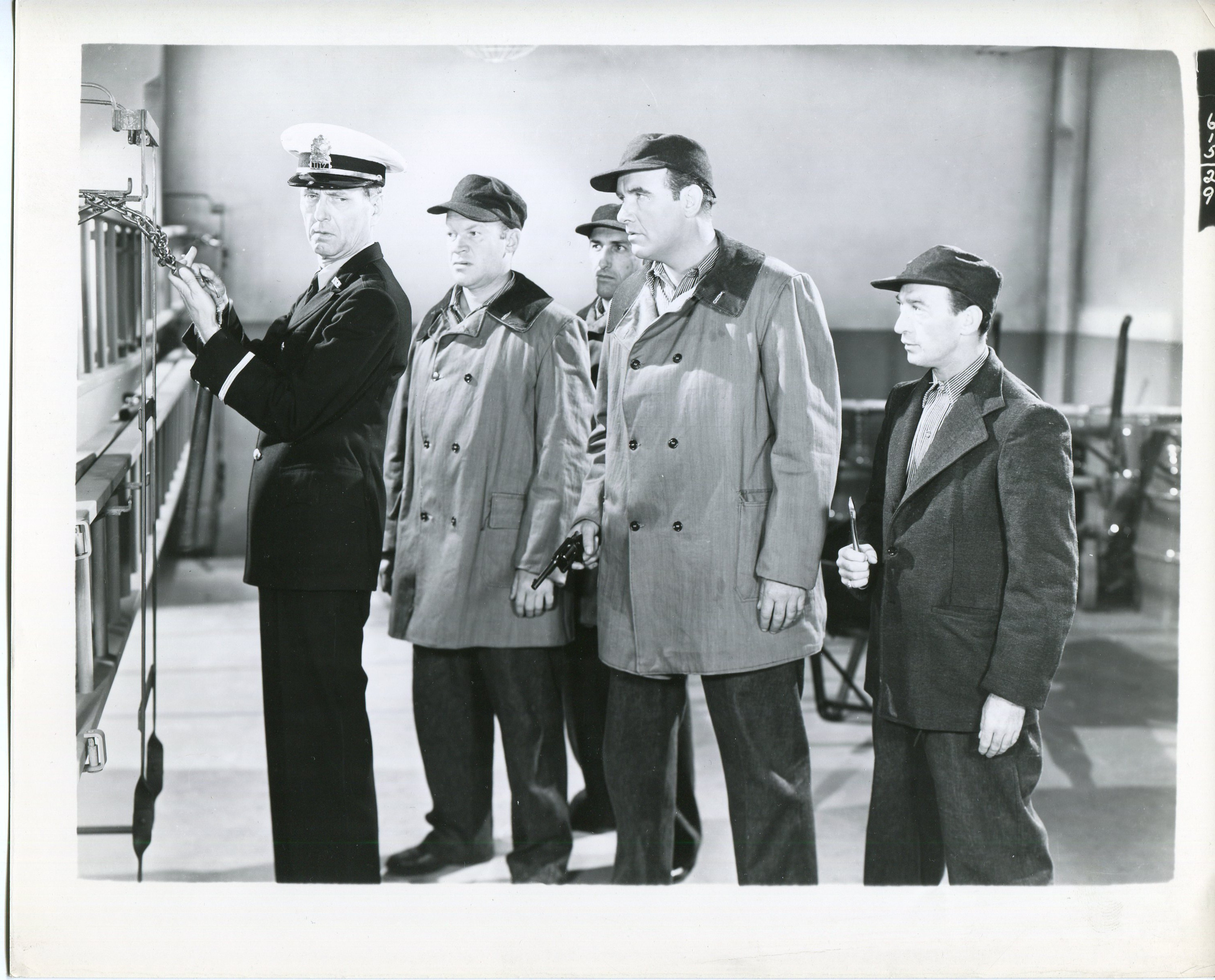 Preston Foster, Victor McLaglen, and Kent Taylor in Roger Touhy, Gangster (1944)