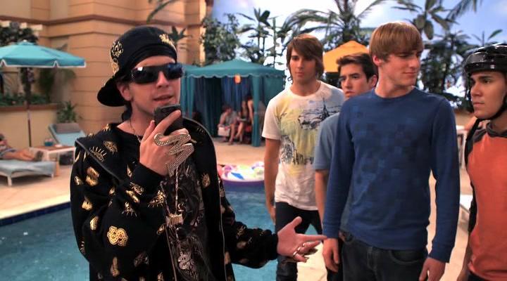 Kendall Schmidt, Carlos PenaVega, Matt Angel, James Maslow, and Logan Henderson in Big Time Rush (2009)