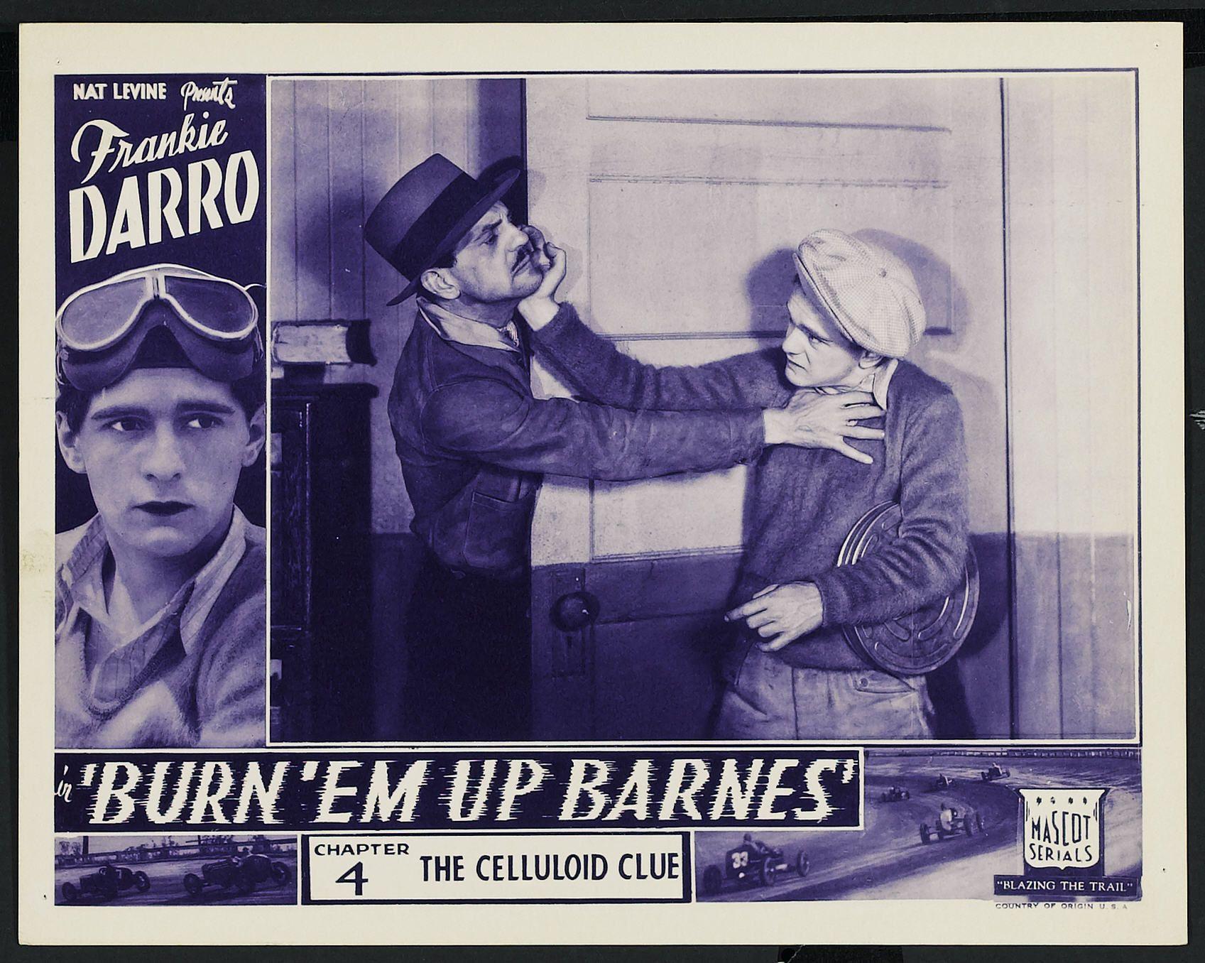 Frankie Darro and Francis McDonald in Burn 'Em Up Barnes (1934)