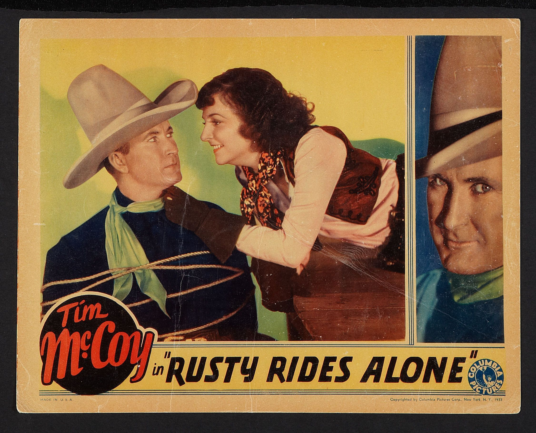Tim McCoy and Dorothy Burgess in Rusty Rides Alone (1933)