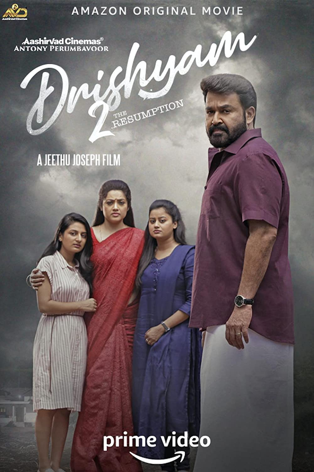 Drishyam 2 (2021) Malayalam Amazon Original Movie 720p HDRip 400MB ESub x264 AAC