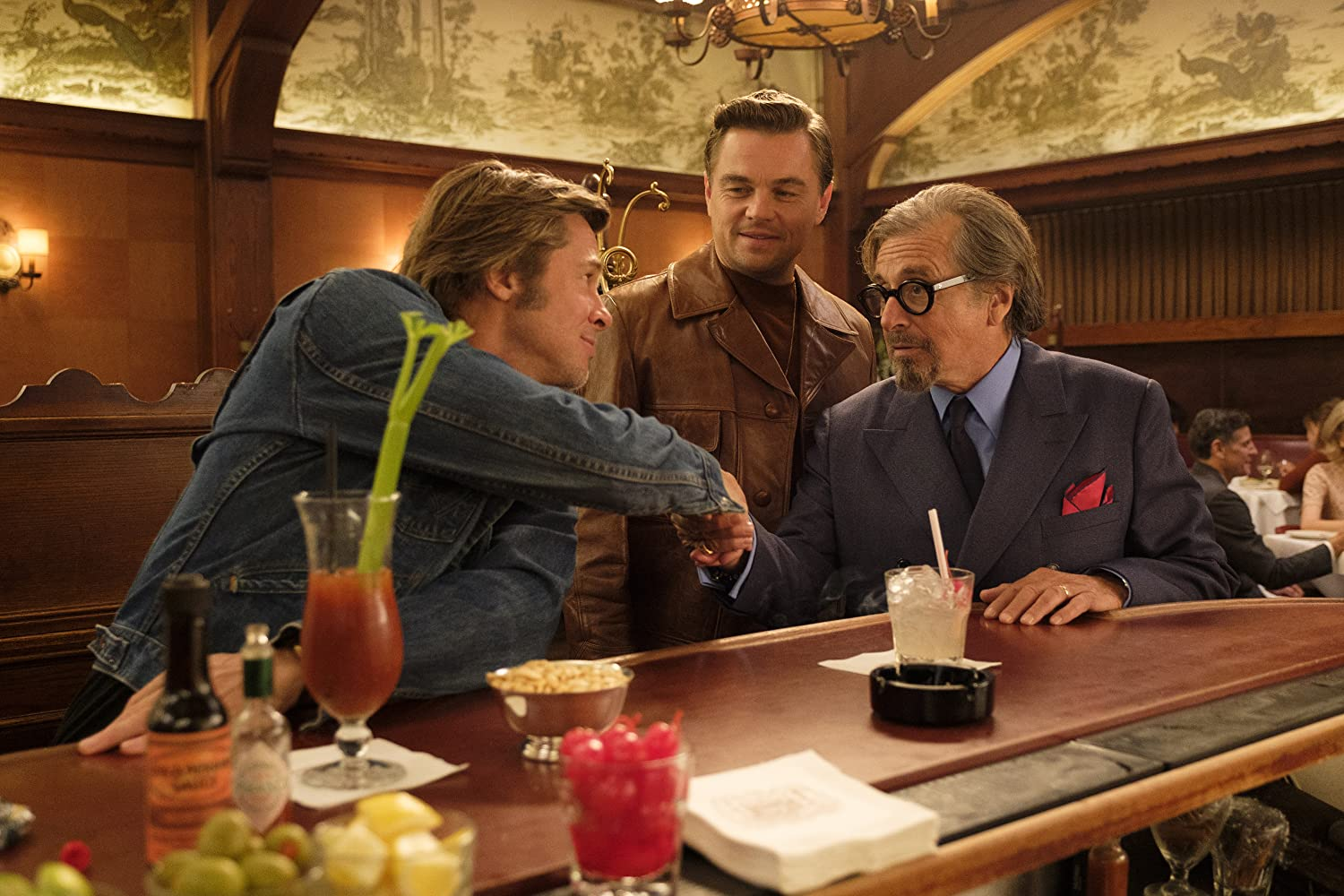 Brad Pitt, Leonardo DiCaprio, and Al Pacino in Once Upon a Time ... in Hollywood (2019)