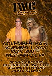 IWC: November Pain Poster