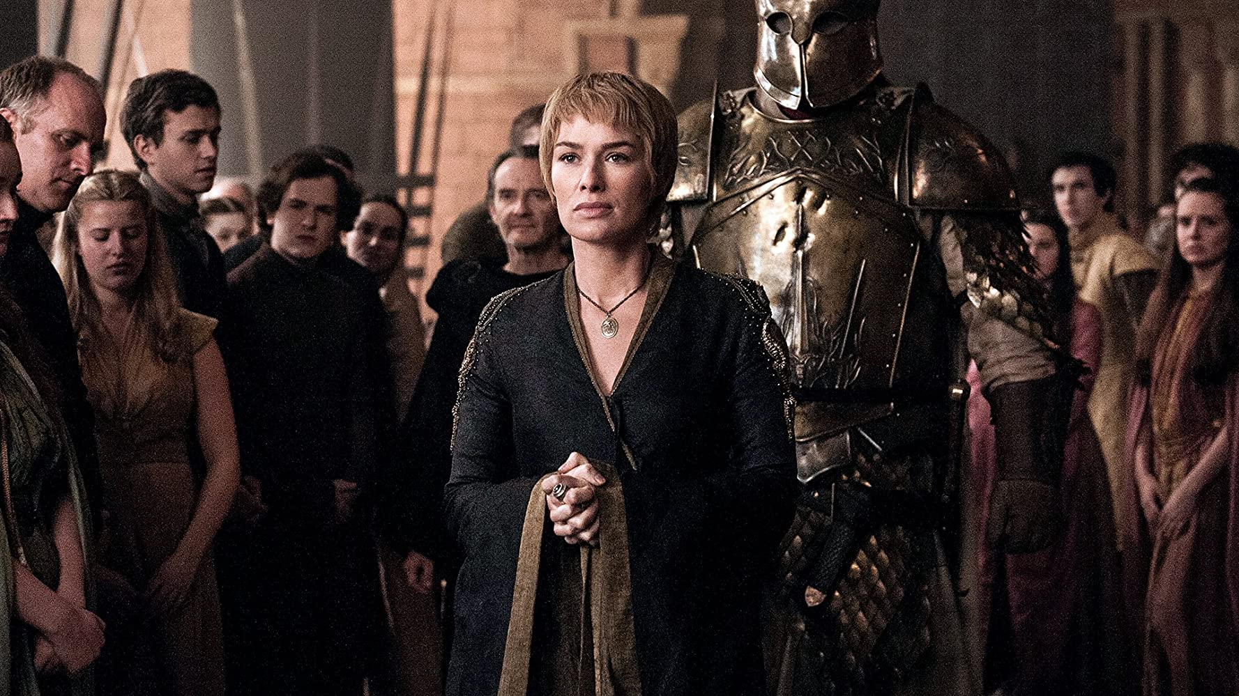 Lena Headey and Hafþór Júlíus Björnsson in Game of Thrones (2011)
