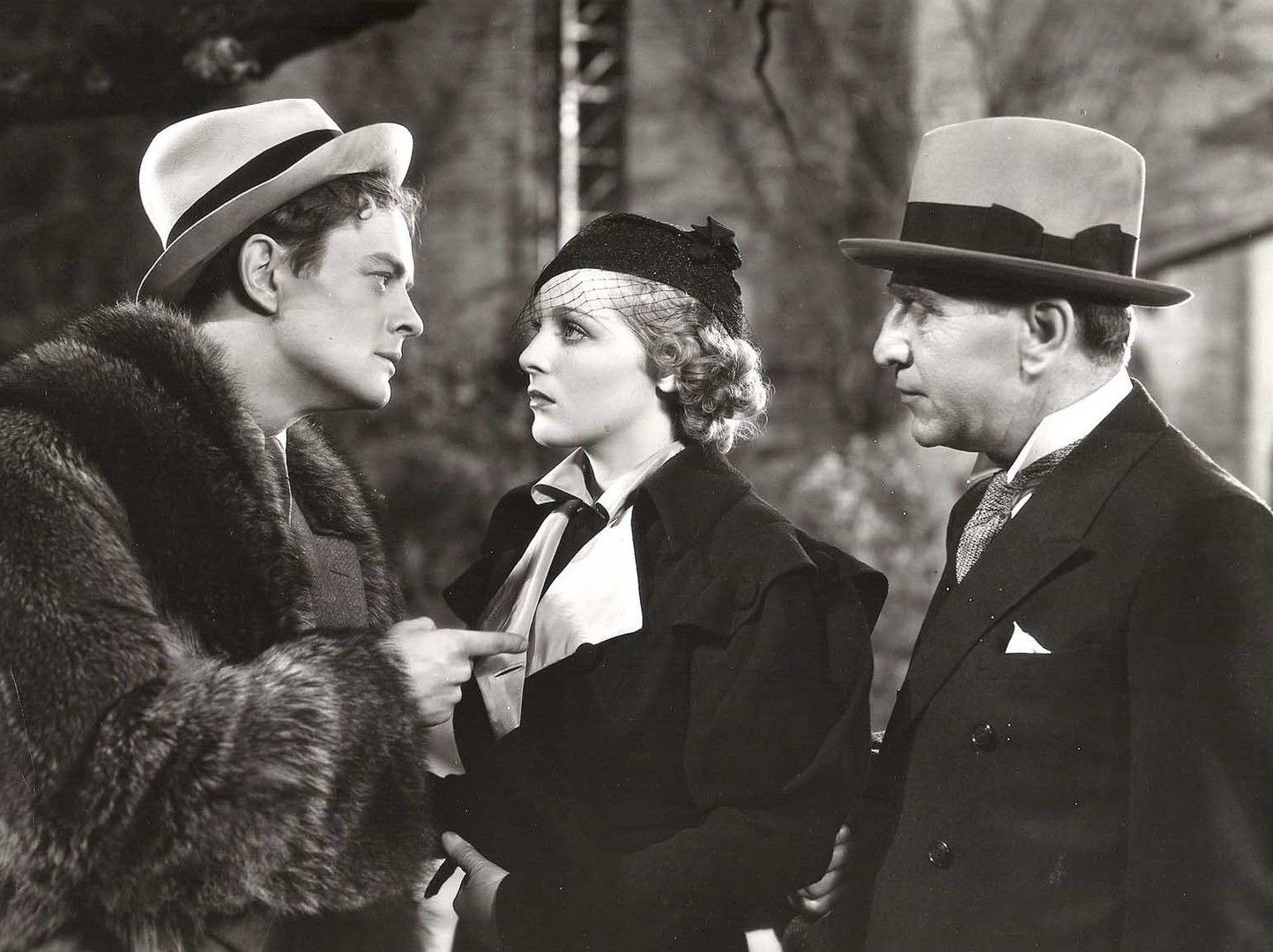 Sally Blane, Phillip Trent, and Edward Van Sloan in Trick for Trick (1933)