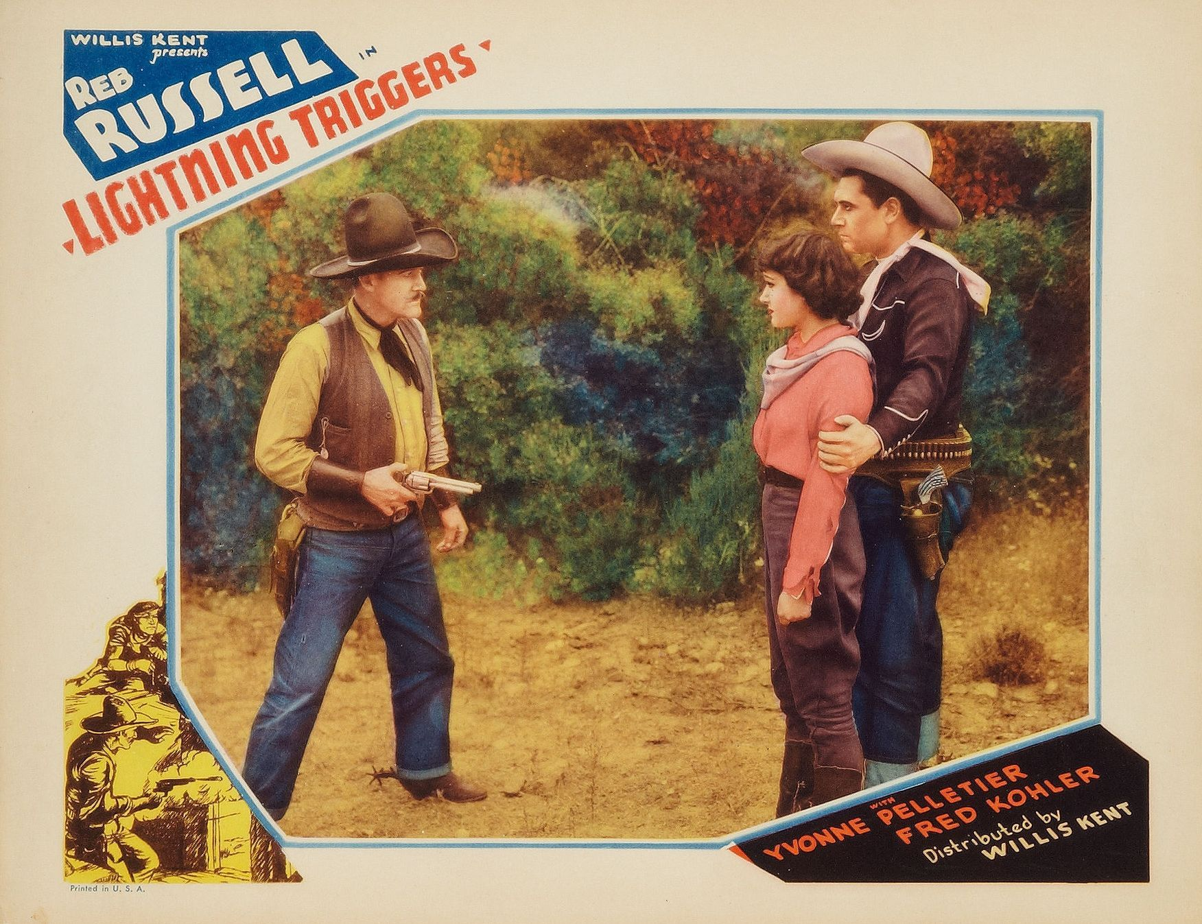 Yvonne Pelletier, Jack Rockwell, and Reb Russell in Lightning Triggers (1935)