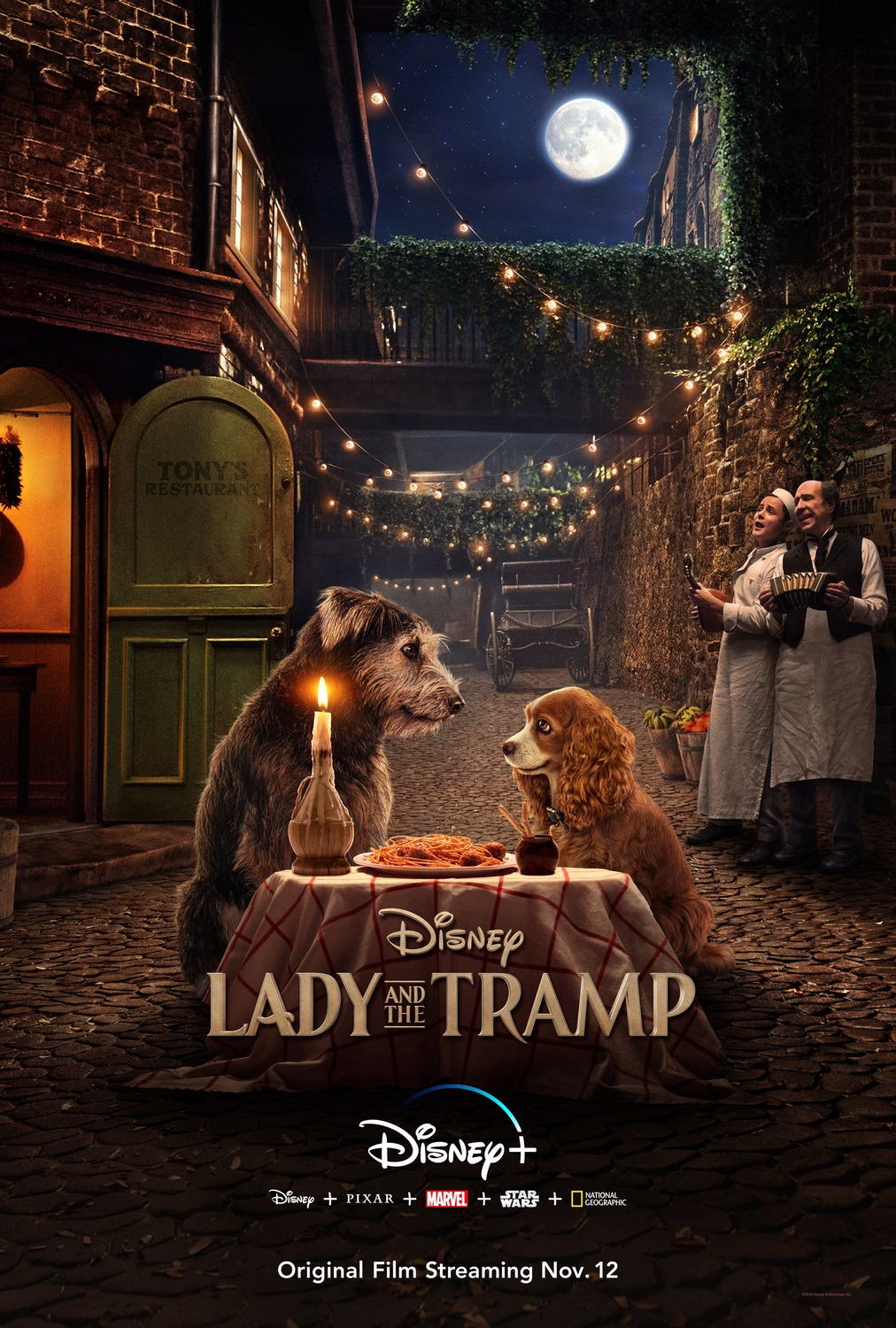 Image result for lady and the tramp 2019 movie poster