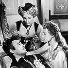 Armando Francioli, Jeanne Moreau, and Nicole Riche in La reine Margot (1954)