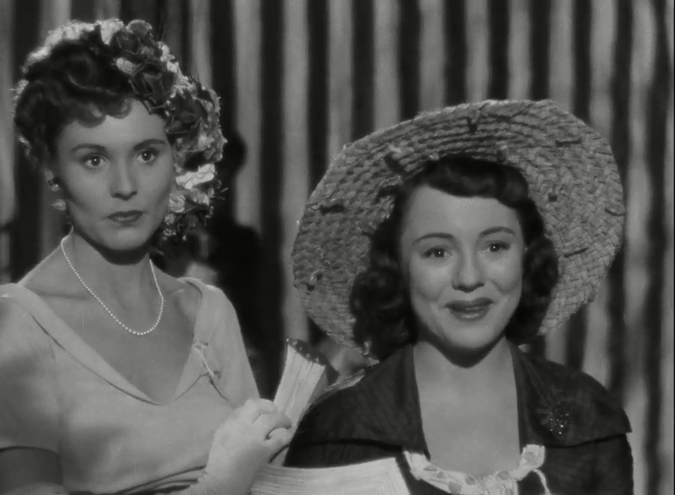 Josephine Douglas and Patricia Hitchcock in Stage Fright (1950)