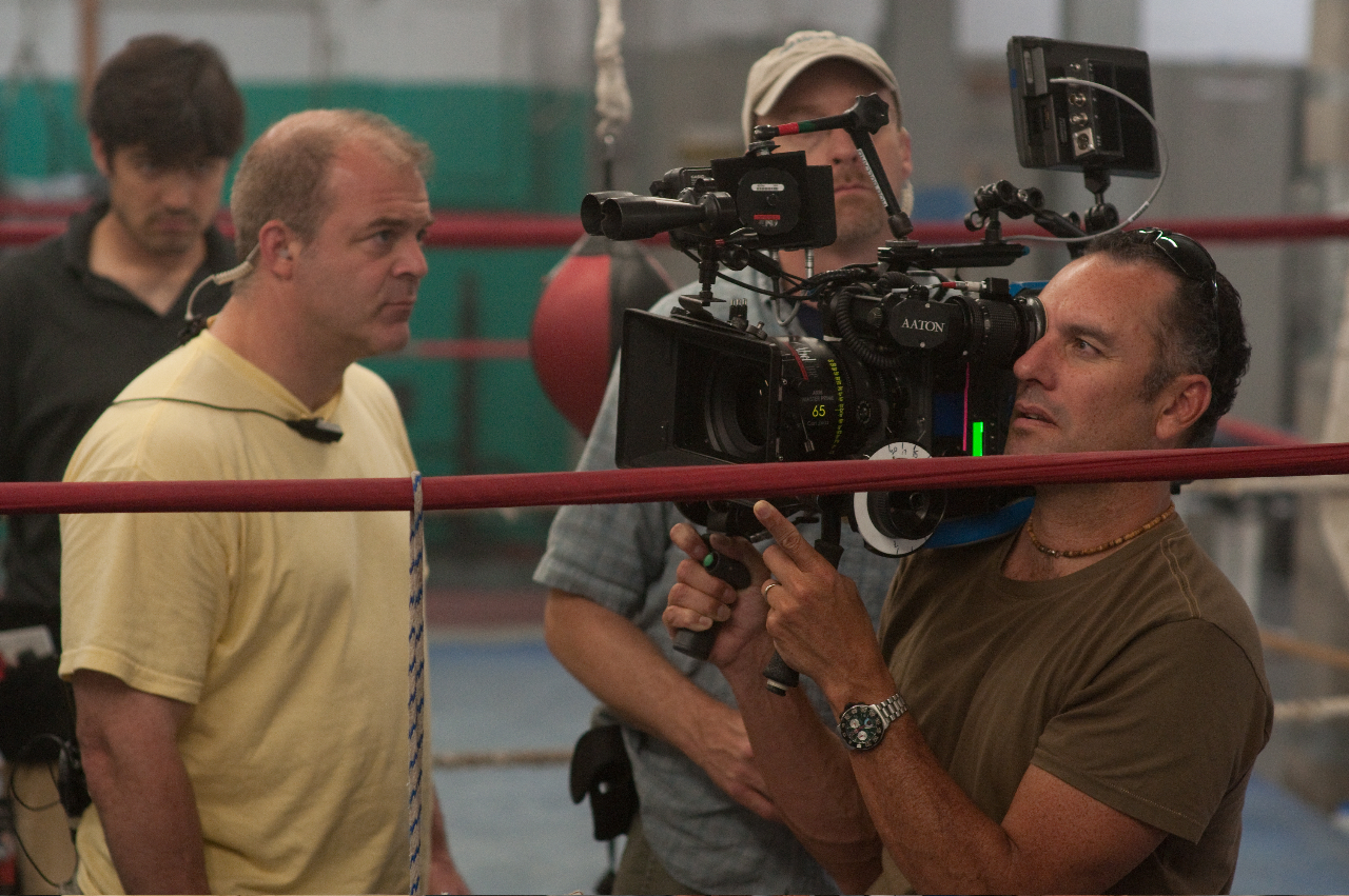 "Dana on the set of ""The Fighter"""