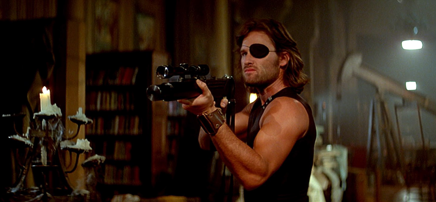 Kurt Russell in Escape from New York (1981)