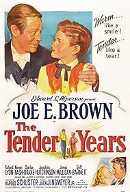 Joe E. Brown, Charles Drake, Richard Lyon, and Noreen Nash in The Tender Years (1948)