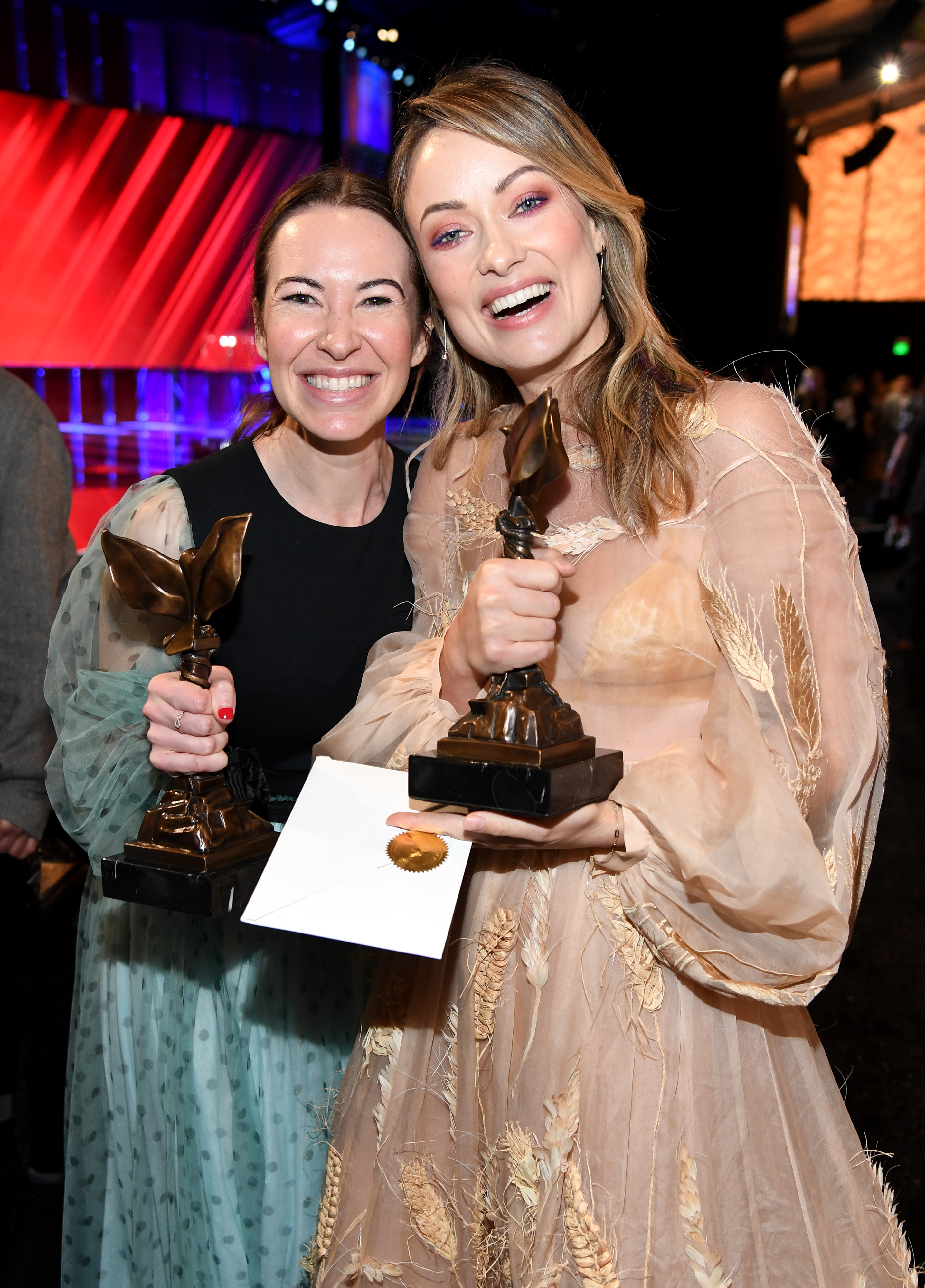 Olivia Wilde and Katie Silberman at an event for 35th Film Independent Spirit Awards (2020)