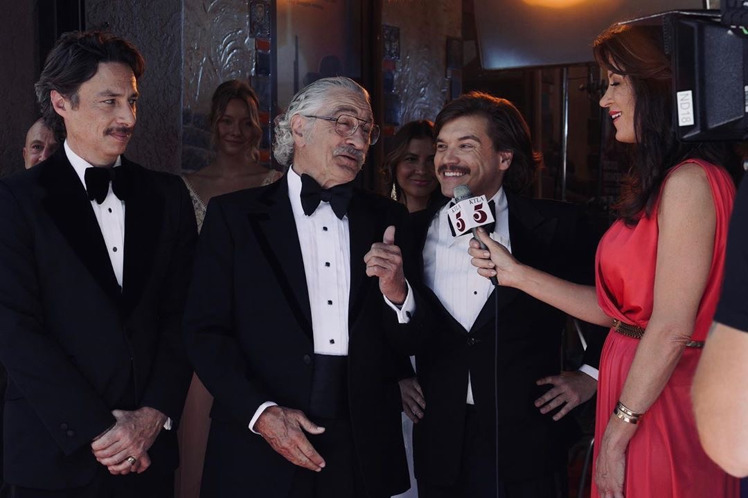Robert De Niro, Zach Braff, Emile Hirsch y Josefine Lindegaard en el Comeback Trail (2020)