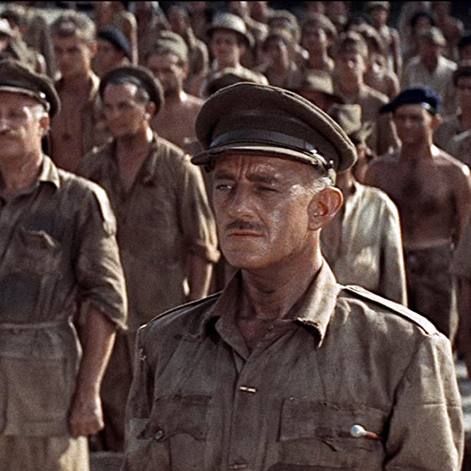 Alec Guinness and James Donald in The Bridge on the River Kwai (1957)