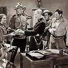 Francis X. Bushman Jr., George Chesebro, Earl Dwire, Robert Walker, Lois Wilde, and Rin Tin Tin Jr. in Caryl of the Mountains (1936)