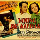 Lew Ayres, Lionel Barrymore, and Lynne Carver in Young Dr. Kildare (1938)