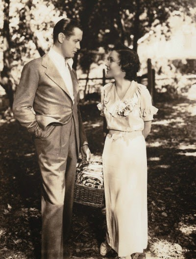 Maureen O'Sullivan and Robert Montgomery in Hide-Out (1934)