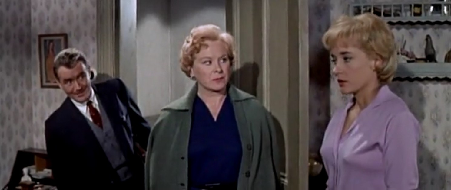 Brenda de Banzie, John Mills, and Sylvia Syms in Flame in the Streets (1961)