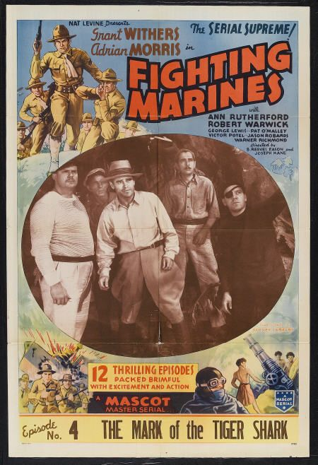 Richard Alexander, Adrian Morris, Warner Richmond, and Grant Withers in The Fighting Marines (1935)
