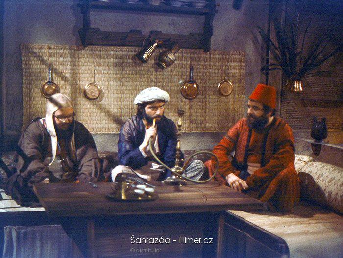 Arnost Goldflam, Miloslav Marsálek, and Vladimír Hauser in Sahrazád (1985)