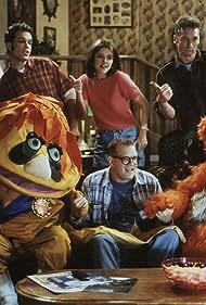 Drew Carey, Diedrich Bader, Christa Miller, Ryan Stiles, and The Krofft Puppets in The Drew Carey Show (1995)