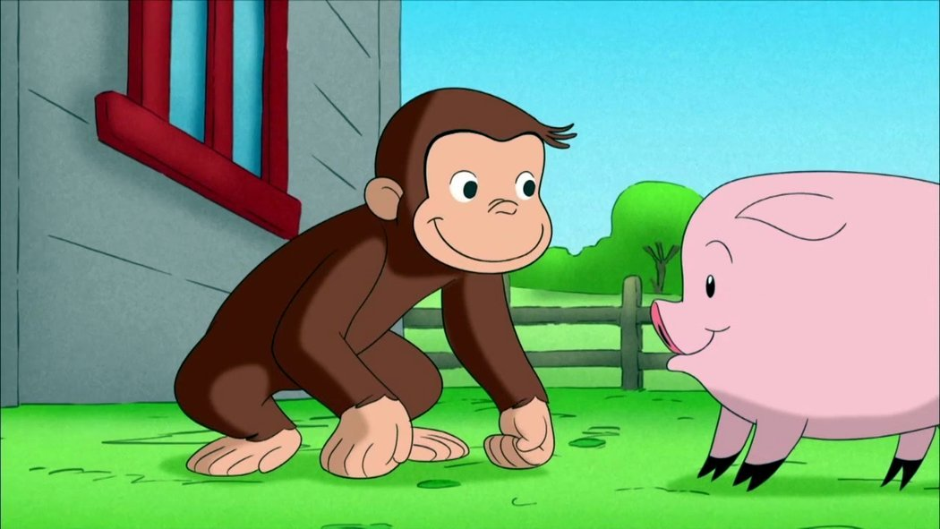 Curious george swinging picture 960