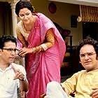 Ritwick Chakraborty, Abir Chatterjee, and Sohini Sarkar in Har Har Byomkesh (2015)