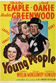 Shirley Temple, Charlotte Greenwood, and Jack Oakie in Young People (1940)