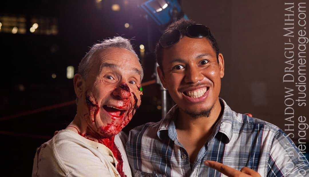 Isabelo Pascual, with Lloyd Kaufman