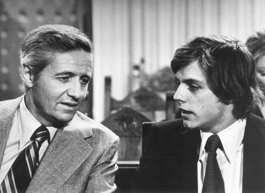 Mark Hamill and Arthur Hill in Owen Marshall, Counselor at Law (1971)
