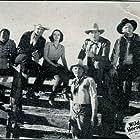 Ray Corrigan, Robert Livingston, June Martel, Walter Miller, Max Terhune, and Fred 'Snowflake' Toones in Wild Horse Rodeo (1937)