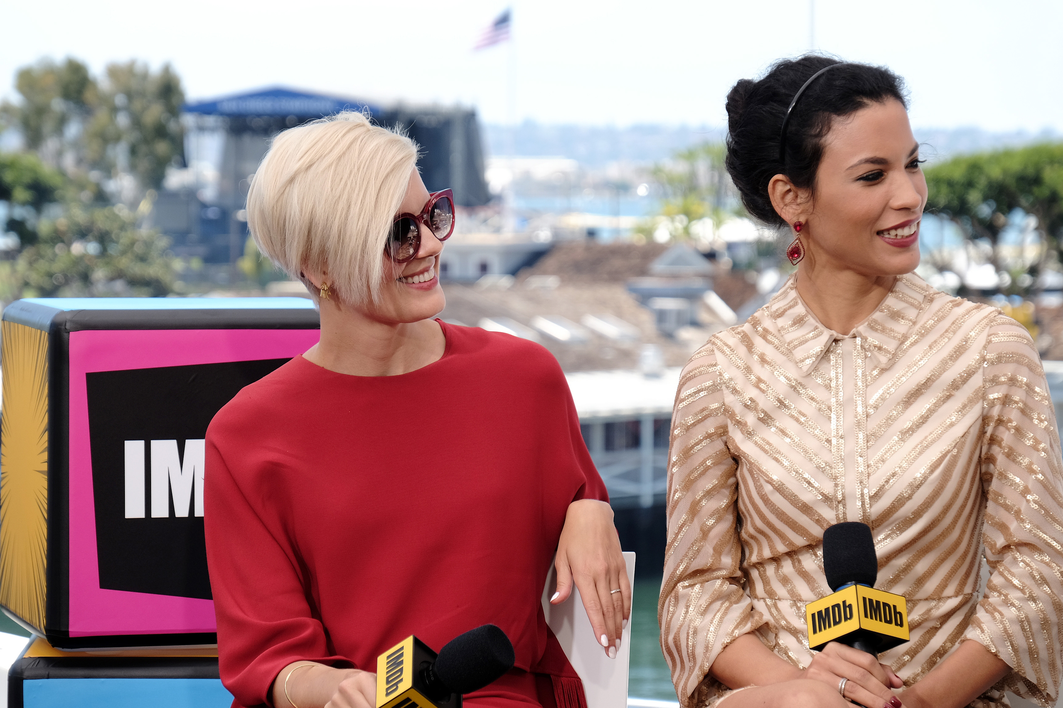 Maggie Grace and Danay Garcia at an event for Fear the Walking Dead (2015)