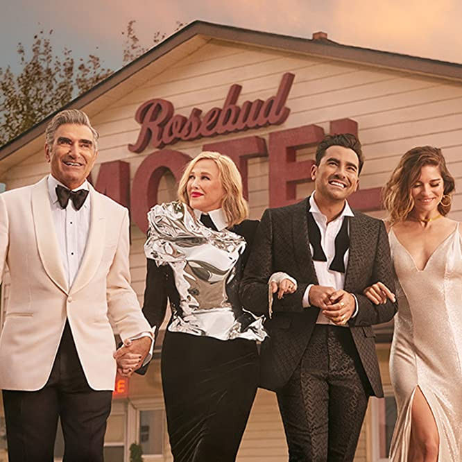 Catherine O'Hara, Eugene Levy, Annie Murphy, and Dan Levy in Schitt's Creek (2015)