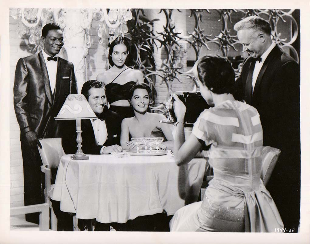John Drew Barrymore, Nat 'King' Cole, Anna Kashfi, and Julie London in Night of the Quarter Moon (1959)