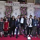 Ivonne Fuentes, Luis Gerardo Méndez, Kyzza Terrazas, Rafael Ley, Gerardo Gatica González, Maria Jose Cordova, Rodrigo Sebastian Gonzalez, and Rodrigo Marquez-Tizano at an event for Bayoneta (2018)