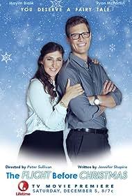 Mayim Bialik and Ryan McPartlin in The Flight Before Christmas (2015)
