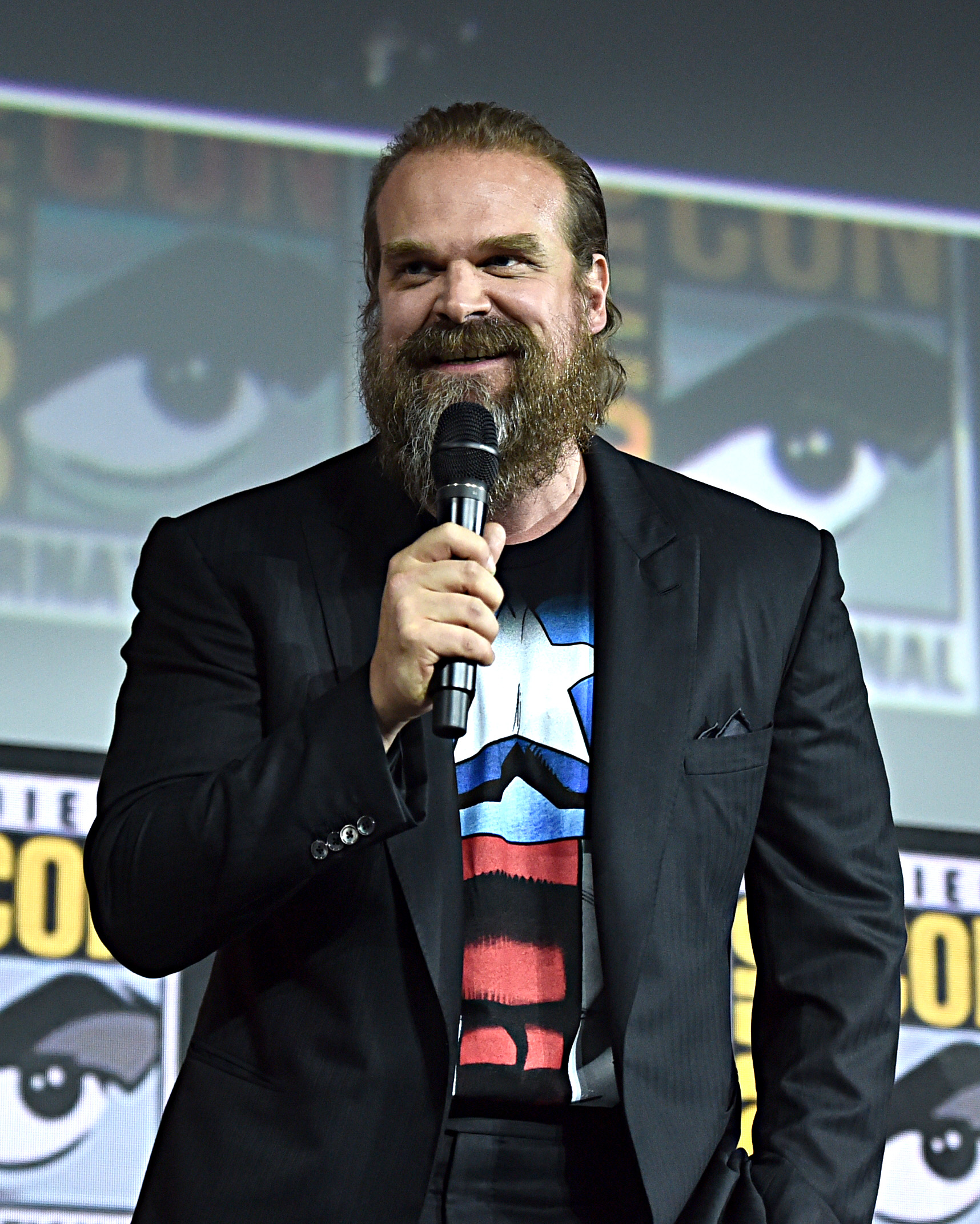 David Harbour at an event for Black Widow (2021)