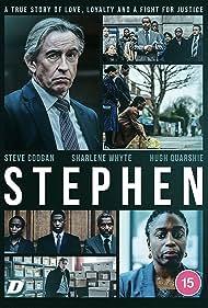 Steve Coogan, Hugh Quarshie, and Sharlene Whyte in Stephen (2021)