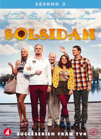 Josephine Bornebusch, Felix Herngren, Johan Rheborg, Henrik Dorsin, and Mia Skäringer in Solsidan (2010)